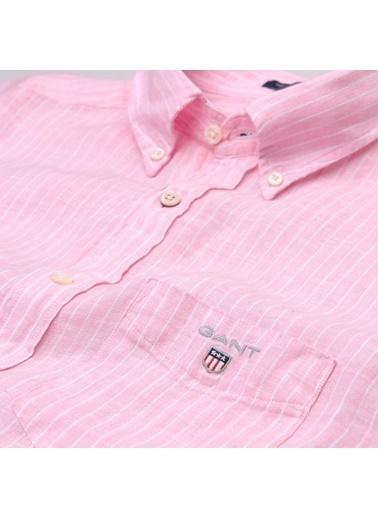 Çizgili Uzun Kollu Oxford Yaka Gömlek-Gant